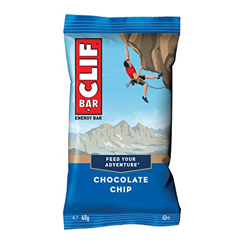 Clif Bar Energy Bars, Source of Plant Based Protein, Vitamin B12 & B6, Chocolate Chip, 12 x 68g