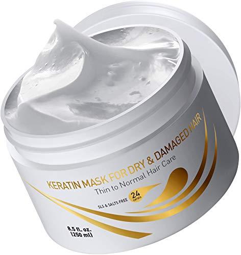 Vitamins Masque Keratine Cheveux Fins Secs et Abimés - Demelant Cheveux Apres Shampoing Capillaire pour le Soin Conditionneur Professionnel