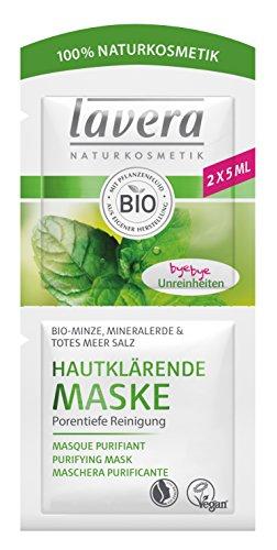 lavera Masque Purifiant Menthe BIO - Vegan - Cosmétiques naturels - Ingrédients végétaux bio - 100% naturel 10ml