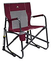 GCI Outdoor Freestyle Rocker Portable Folding Rocking Chair- best camp chair for bad back