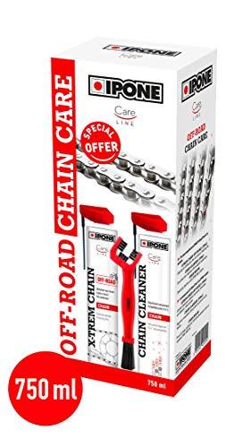 Ipone IP800737 Pack Mantenimiento Moto Carretera Care Cleaner X-TREM Off Road 750 ML + Un Cepillo para cadena