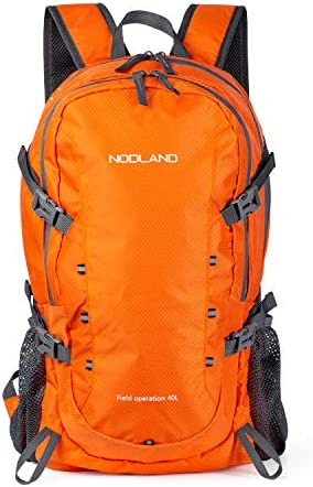 NODLAND Lightweight 40L Travel Backpack Carry on Foldable Waterproof Daypack product image