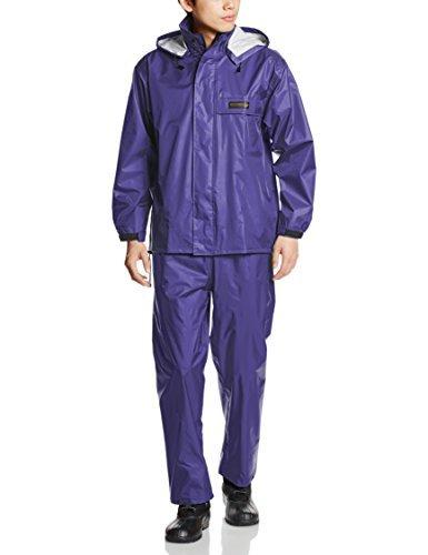 [ドキュメント] レインスーツ 上下セット 防水 総裏メッシュ オールマインドスーツ ネイビー M