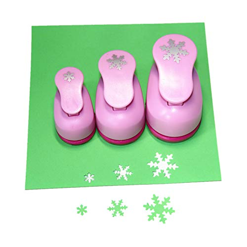 CADY Crafts Punch Set 8mm 15mm 25mm Paper Punches 3pcs/Set (Snowflake)