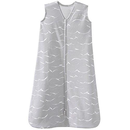 Halo Sleepsack Cotton Wearable Blanket, Grey Birds, Medium