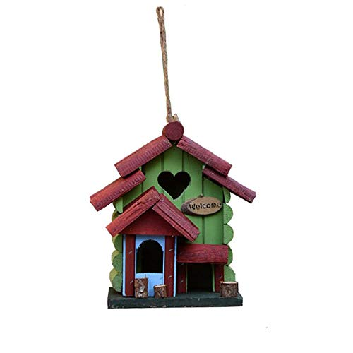 Vogelhuisje Retro Houten Huis Van De Vogel, Retro Arts And Crafts Country Cottages Bird House, Woodland Cabin Birdhouse Outdoor Decor En Interieur Houten Huis Decor 2-in-1 (Wood) Vogelbenodigdheden