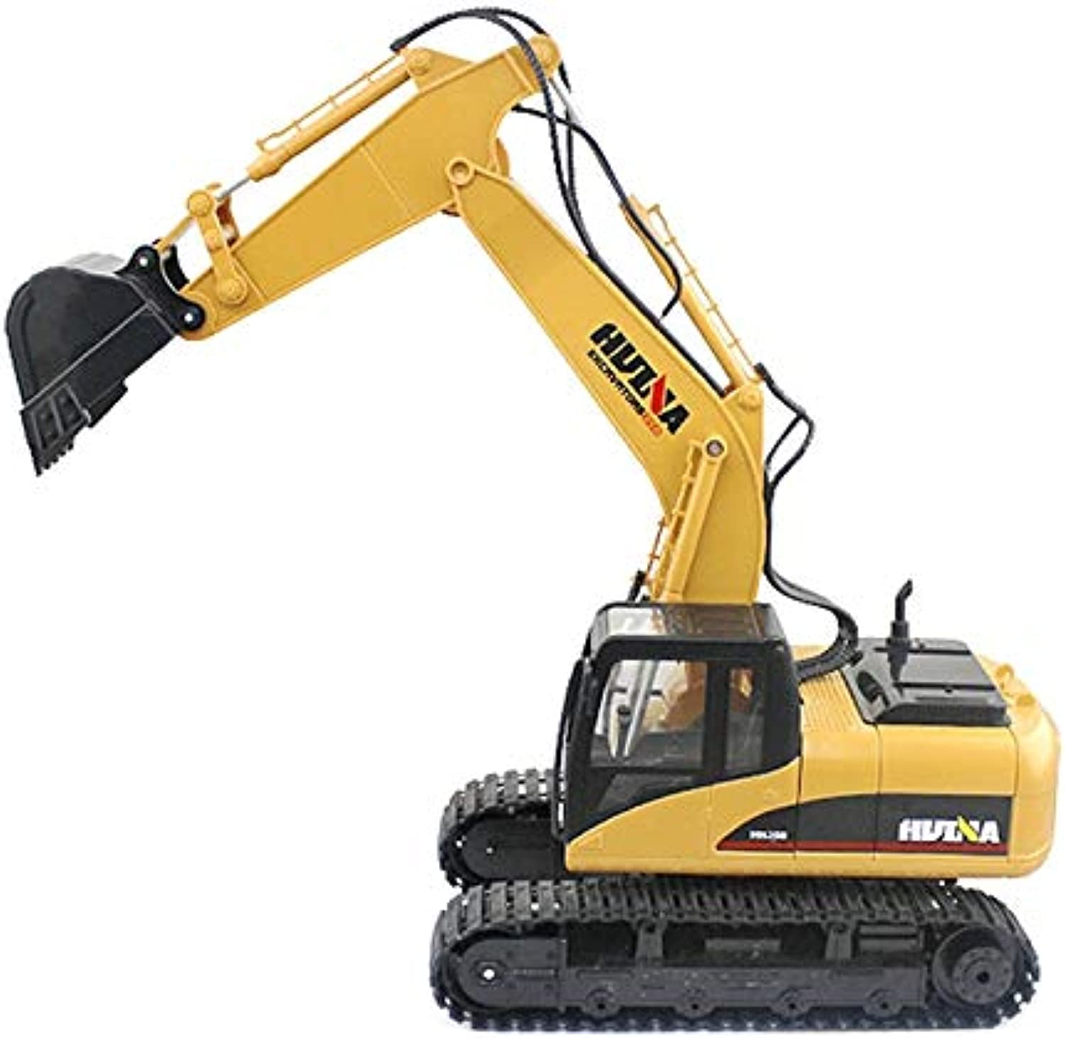 Generic HuiNa 1550 RC Crawler Car 15CH 2.4G 1 14 RC Metal Excavator Charging 1 12 RC Car with Battery RC Alloy Excavator RTR for Kids Yellow