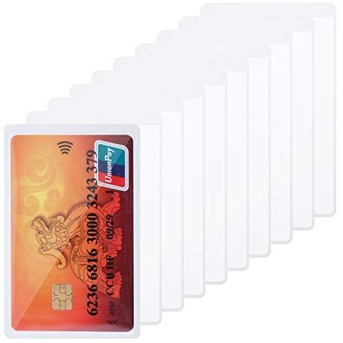 You&Lemon 50 fundas para tarjetas de crédito, de plástico, transparentes, con orificio