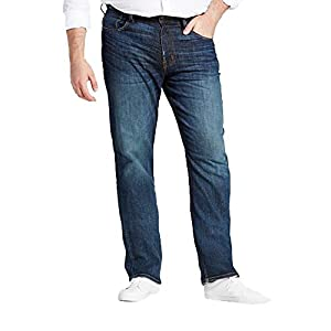 Men's Big & Tall Straight Fit Jeans – Dark Denim Wash &#82...