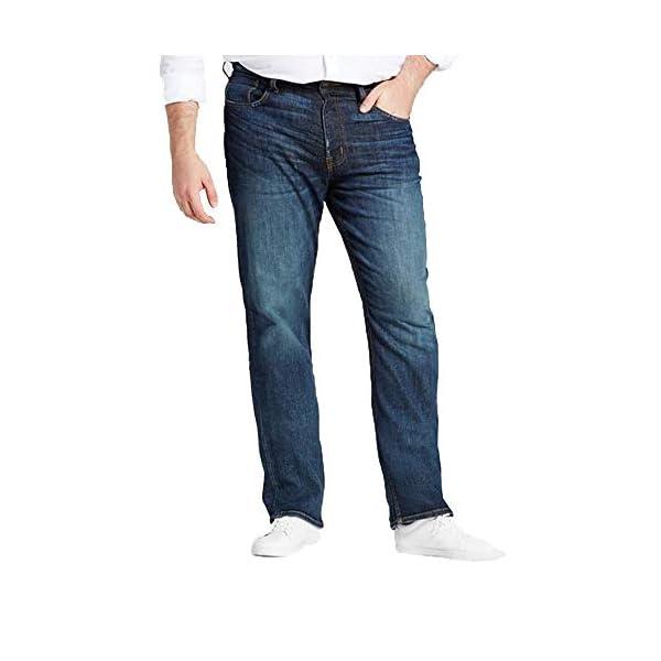 Men's Big & Tall Straight Fit Jeans - Dark Denim Wash - 3