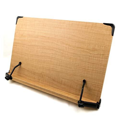 木製 ブックスタンド 大型サイズ 47cm×30cm 5段階調節 読書台 書見台(輸入品)S50