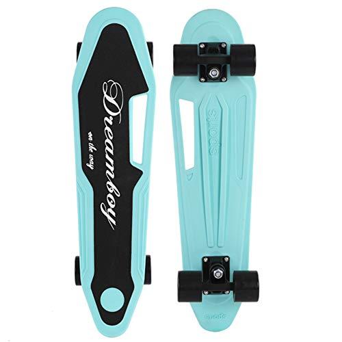 Sumeber Skateboard Kinder Complete Mini Cruiser 24 Zoll Coole Skateboards für Anfänger Geburtstagsgeschenk Skateboards für Teenager Mädchen Jungen Erwachsene Kinder (Blau)
