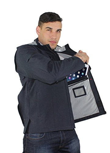 AyeGear J25 Jacket and Vest with 25 Pockets, Tablet iPad Pockets, Navy Blue XL