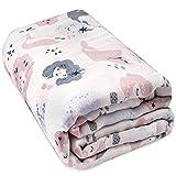 Viviland Baby Muslin Blanket 6 strati, 120 x 120 cm 100% cotone Toddler Quilt, asciugamani da bagno per bambini e bambine