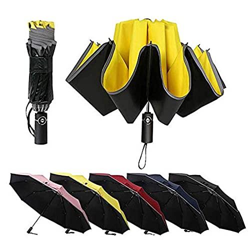 47 pulgadas portátil paraguas de golf automático abierto grande 10 costillas impermeable negro lluvia paraguas viaje al aire libre