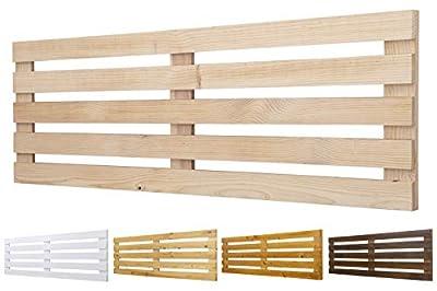 Color: Crudo. Medidas: 160 cm de largo y 60 cm de ancho. Para camas de 135 cm y 150 cm 🌲LOS MATERIALES DE NUESTROS PRODUCTOS 🌲: Nuestros productos son fabricados con madera nueva maciza de pino de 1ª calidad. 🌲DECORACIÓN INIGUALABLE🌲: Con los palets ...