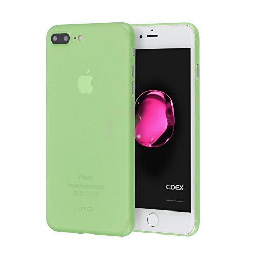 doupi UltraSlim Funda para iPhone 8 Plus / 7 Plus (5,5 Pulgadas), Finamente Estera Ligero Estuche Protección, Verde
