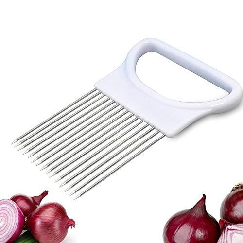 Mixtooltoys All-in-One Zwiebelhalter Gemüse Kartoffel Cutter Schneide Gadget Edelstahl Gabel zum Helfer Küche Werkzeug Aid Gadget Schneiden Chopper