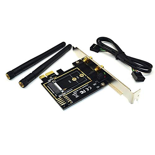 Sonline Adaptador WiFi M.2 M2 Ngff Key A-E una Pci Express...
