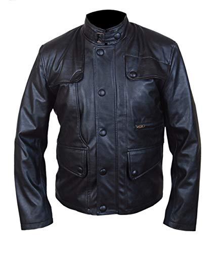 Feather Skin Jacke Herren Leder Jacke-T5 Terminator Arnold Genisys XXS