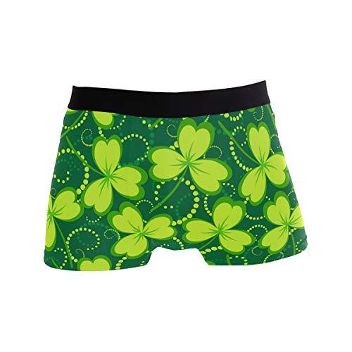 Ahomy Herren Boxershorts St. Patrick's Day Kleeblatt, weicher Stoff, Polyester Gr. S, Mehrfarbig