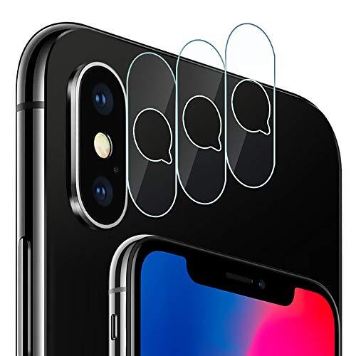 G-Color iPhone X/XS/XS Max Kamera Schutzfolie, 9H Härte, Anti-Öl, Anti-Kratzer und Blasenfrei, Glas Displayschutzfolie für iPhone X/XS/XS Max Kamera objektiv
