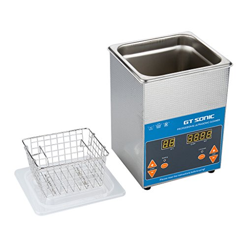 GT SONIC 2L Ultrasonic Cleaner Heated with Adjustable Timer Ultrasonic Jewelry Cleaner Machine for Jewellery Rings Watches Eyeglasses Dentures Coins Metal Parts Lab Tools and More