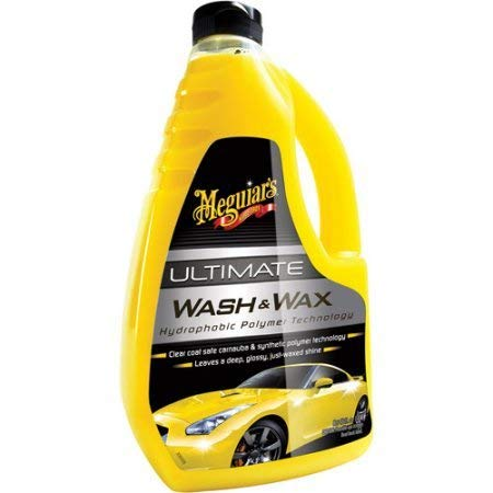 Meguiar's Ultimate Wash and Wax with A Blend of Premium Carnauba Wax and Synthetic Polymers That Protects and Shines While Washing Away Dirt and Grime