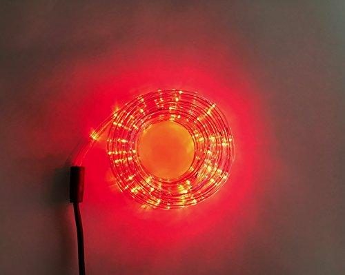 LED Lichterschlauch 10m 240er LED Lichter Innen und Außenbereich Lauflichter für Saal, Garten, Weihnachten, Hochzeit, Party - Lichtschläuche 4 Farbe (Rot)