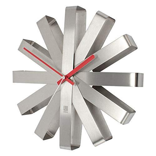 [ アンブラ ] Umbra 壁掛け時計 リボンクロック おしゃれ 掛け時計 118070-590 シルバー Ribbon Clock Steel デザイン 家具 インテリア