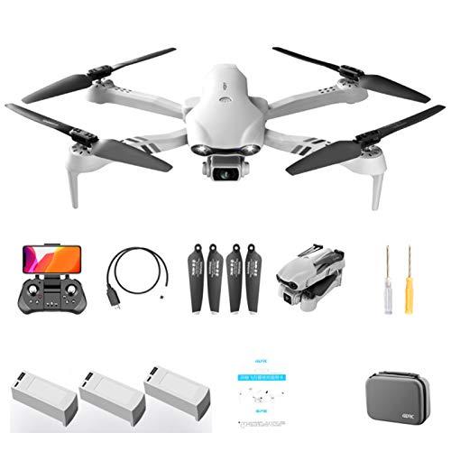 QUANXI F10 Drohne mit Kamera 1080P, 5G GPS Faltbar 120 ° Weitwinkel RC Quadrocopter/Lange Flugzeit/Höhenlage / 3D Flip/Notlandung, Headless Modus für Anfänger (3* Batterien)