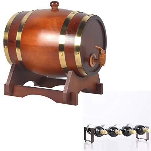 Eiken veroudering vat Whiskey Barrel 15L, Houten opslag emmer met kraan met flessenrek voor het opslaan van uw favoriete geest, drankjes, honing Huishoudelijke Wijnvat