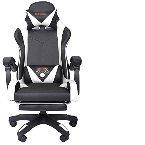 Home Gaming Chair Net Red Stuhl Bürostuhl, schwarz MISU