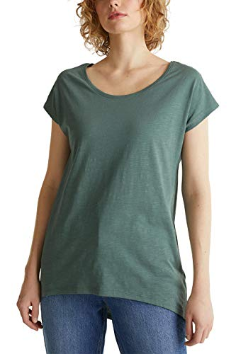 edc by ESPRIT Damen 030CC1K335 T-Shirt, 350/KHAKI Green, L