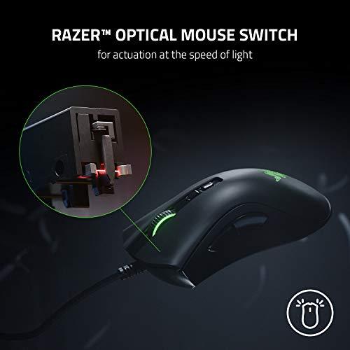 Razer DeathAdder V2 – Kabelgebundene USB Gaming Maus mit ergonomischen Komfort (Optische Switches, optischer Fokus+ 20K Sensor, Speedflex Kabel, integrierter Speicher) Schwarz - 3
