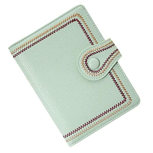 [スーツケースカンパニ?]GPT パスポートケース 刺繍 かわいい おしゃれ PU レザー カード入れ 貴重品 収納 整理 海外旅行 トラベル グリーン