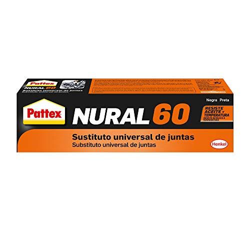 Pattex Nural 60 Sustituto universal de juntas, sellador para automoción e industria, silicona selladora para juntas de culata, cajas de cambio y más, 1 x 40 ml