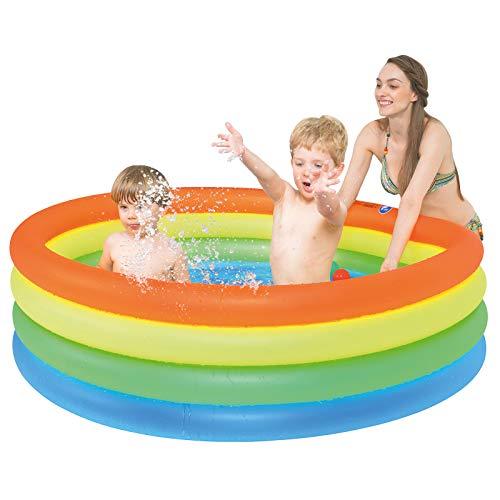 ZOETIME Round Inflatable Kiddie Pool, 59' X 16' Kids Summer Swimming Pool...
