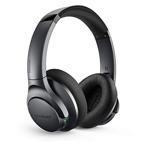 Anker Soundcore Life Q20 Bluetooth Headphones with Travel Case, Hybrid Active Noise Cancelling, 40H Playtime, Hi-Res Audio, Deep Bass, Wireless Over Ear Headphones for Travel, Work (Black) (Renewed)