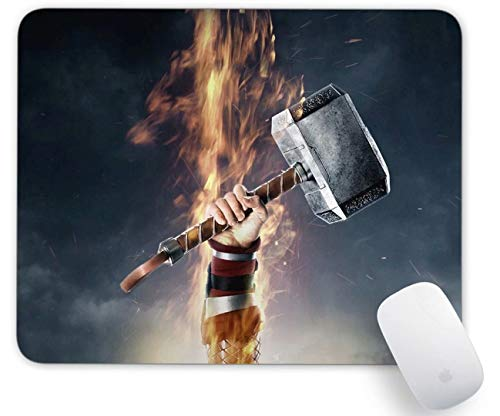 Mouse Pad Thor's Hammer Gaming Funny Customized Cute Rubber Mousepad Laptop MouseMat for Desk