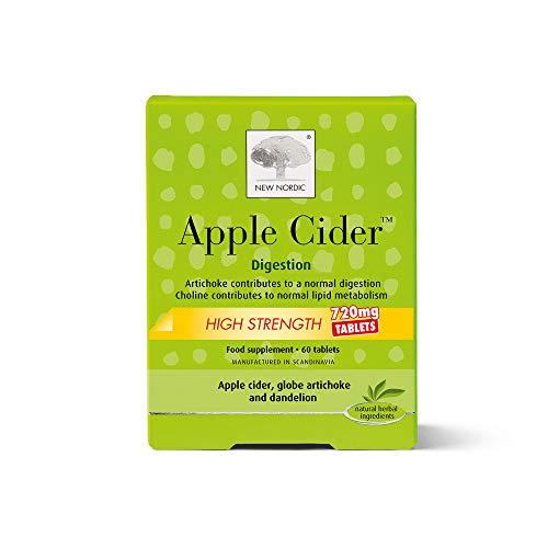 New Nordic Apple Cider High Strength Food Supplement Tablets, 60-Count