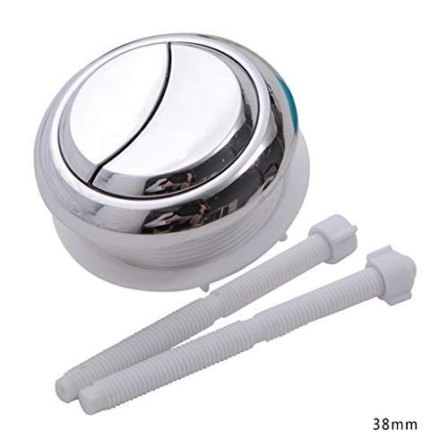Floridivy 2pcs Universale Rotonda Tipo Dual Spinta igienici Flush Button WC Interruttore di irrigazione ABS in Acciaio Inox Primavera