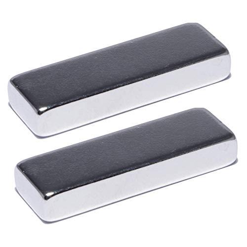Neodym Magnete Extra Stark Quader 30x10x5mm - 8 Kg Powermagnet - Neodym Magnet 30mm - Quadermagnet 30 x 10 x 5 mm - N52 Stark Neodym-Magnete