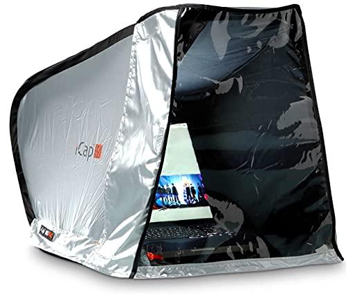 """iCap Mid PRO Notebooktent - Protezione per MacBook, Notebook, Laptop, iPad da Luce Solare, Pioggia, Polvere e Freddo. con Coperchio Frontale. da 14"""" a 16"""" – Larghezza 40 cm"""