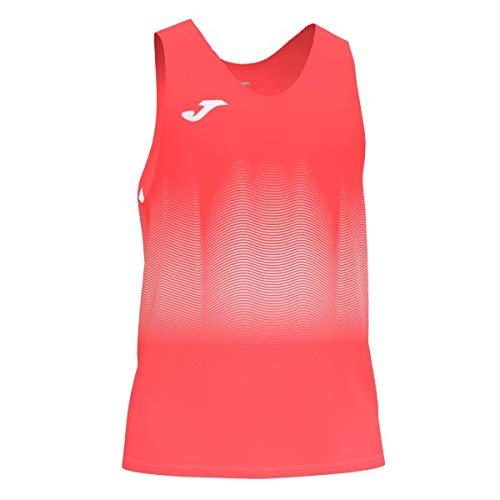 Joma Elite VII Camiseta Running sin Mangas, Niños, Coral Fluor, 4XS-3XS