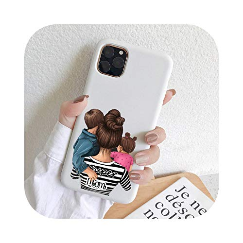 KASHINO Mother MoM - Funda para iPhone XR 11 PRO MAX 8 7 6 Plus XS MAX Suave TPU Funda Anti Caídas Protección-TPU G775-W-Para iPhone 6 6S Plus