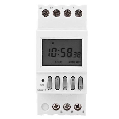 Jopwkuin Interruptor Temporizador programable, Interruptor Temporizador Compacto y portátil de configuración Sencilla para electrodomésticos para Timbre Escolar