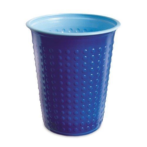 Akzenta 40 Pièce Gobelet Gobelets en Plastique 200 ML Divers Gobelet à Deux Couleurs Bicolore W5 - Bleu - Bleu Clair, 200 ML