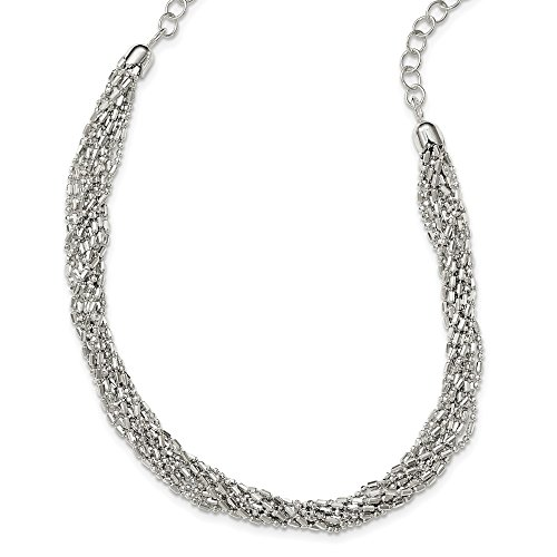 925 Sterling Silver Twisted Multi Strand Chain Necklace Pendant Charm Multi-str Fine Jewelry For Women Gifts For Her