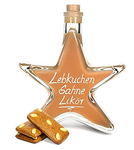 Lebkuchen Sahnecreme Likör 0,2L Sternflasche Weihnachtsflasche Stern Flasche Geschenk Geschenkflasche 200ml